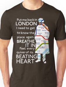 London Underground Map Sherlock Unisex T-Shirt