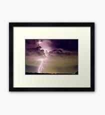 Sydney Lightning Framed Print