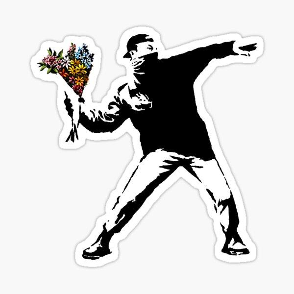 Banksy - Rage, Flower Thrower Sticker