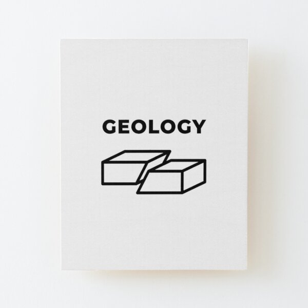 Geology (Inverted) Wood Mounted Print