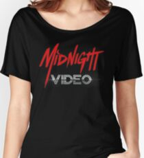 MIDNIGHT VIDEO Women's Relaxed Fit T-Shirt