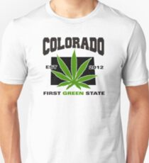Colorado Marijuana Cannabis Weed T-Shirt T-Shirt