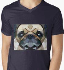PUG LUV Men's V-Neck T-Shirt