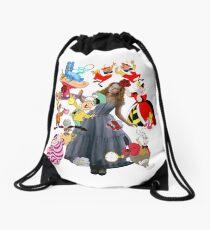 Alice In Wonderland Drawstring Bag