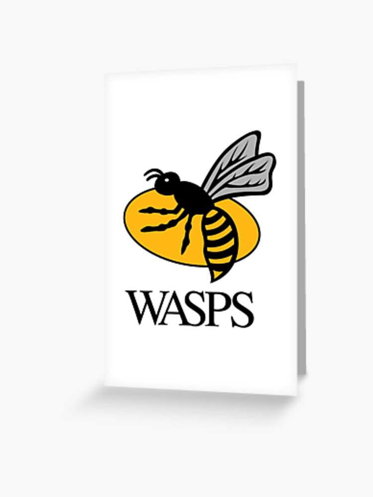 Wasps Rugby Greeting Card By Ficky Shop Redbubble