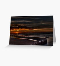 Frankston Pier Sunset (HDR) Greeting Card