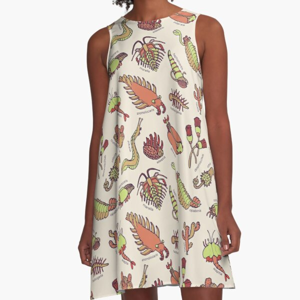 Cambrian Critters A-Line Dress