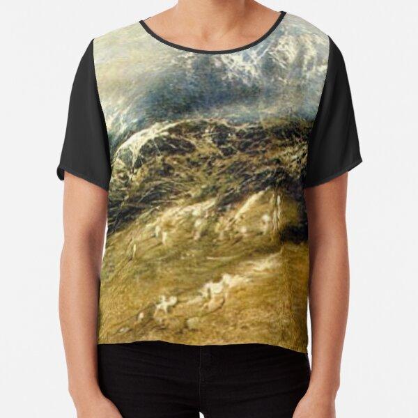 Tawlula T-Shirts, #Mountains #Landscape, #Outdoors, #Tawlula, Panoramic, Weather Chiffon Top