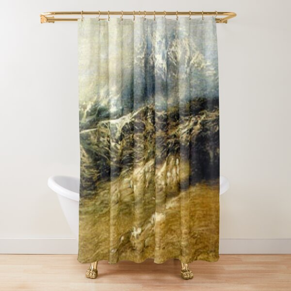 #Mountains #Landscape, #Outdoors, #Tawlula, Panoramic, Weather Shower Curtain