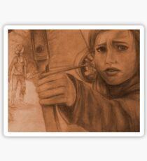 Ellie in Winter - Sepia Sticker