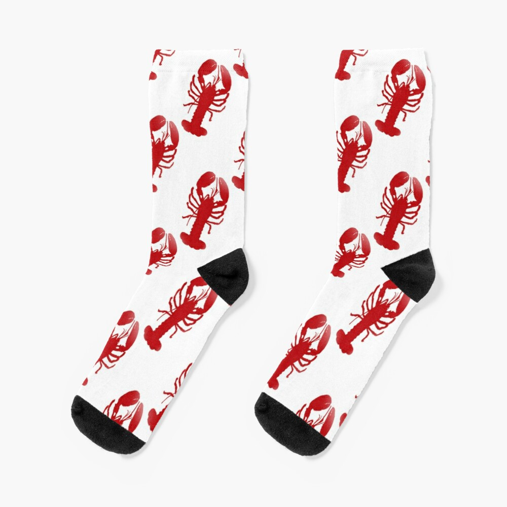 Red Lobster Repeating Pattern Socks