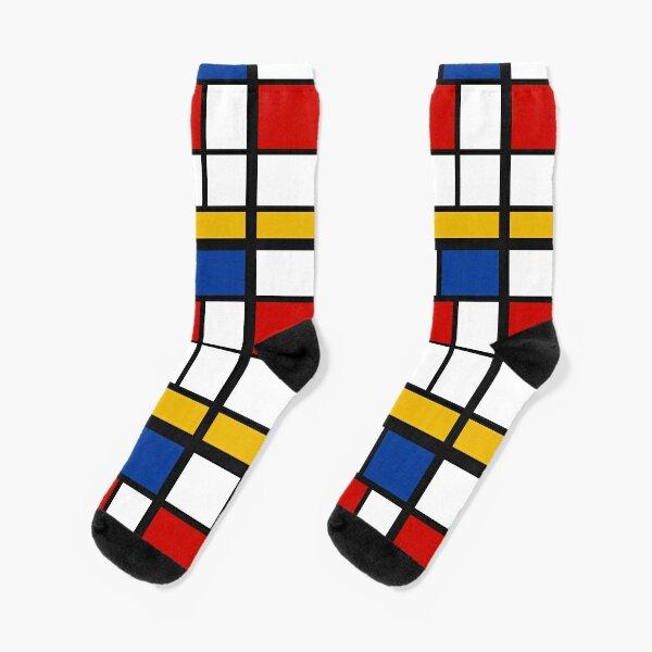 De Stijl #1 (Mondrian Inspired)  Socks