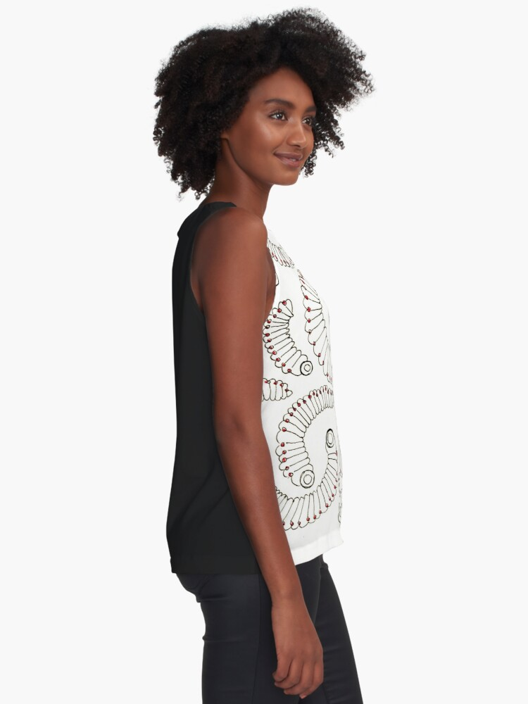 Alternate view of Evolutions - Burrowed Sleeveless Top