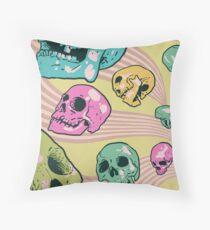 Candy Skulls Throw Pillow