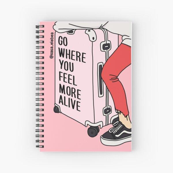 Go by Sasa Elebea Spiral Notebook
