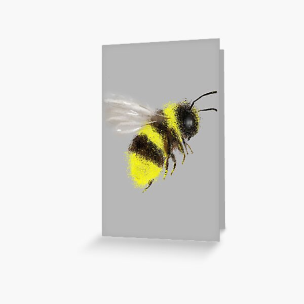 Bee Card Collection, Grey Greeting Card