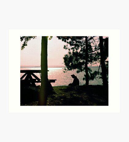 Lake Golden Art Print