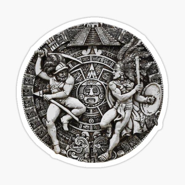 AZTEC CALENDAR T SHIRT Sticker