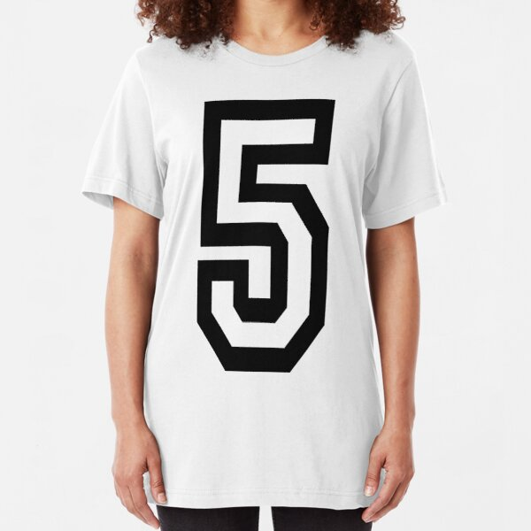 5, 5th, TEAM, SPORTS, NUMBER 5, FIFTH, FIVE, Competition. Slim Fit T-Shirt
