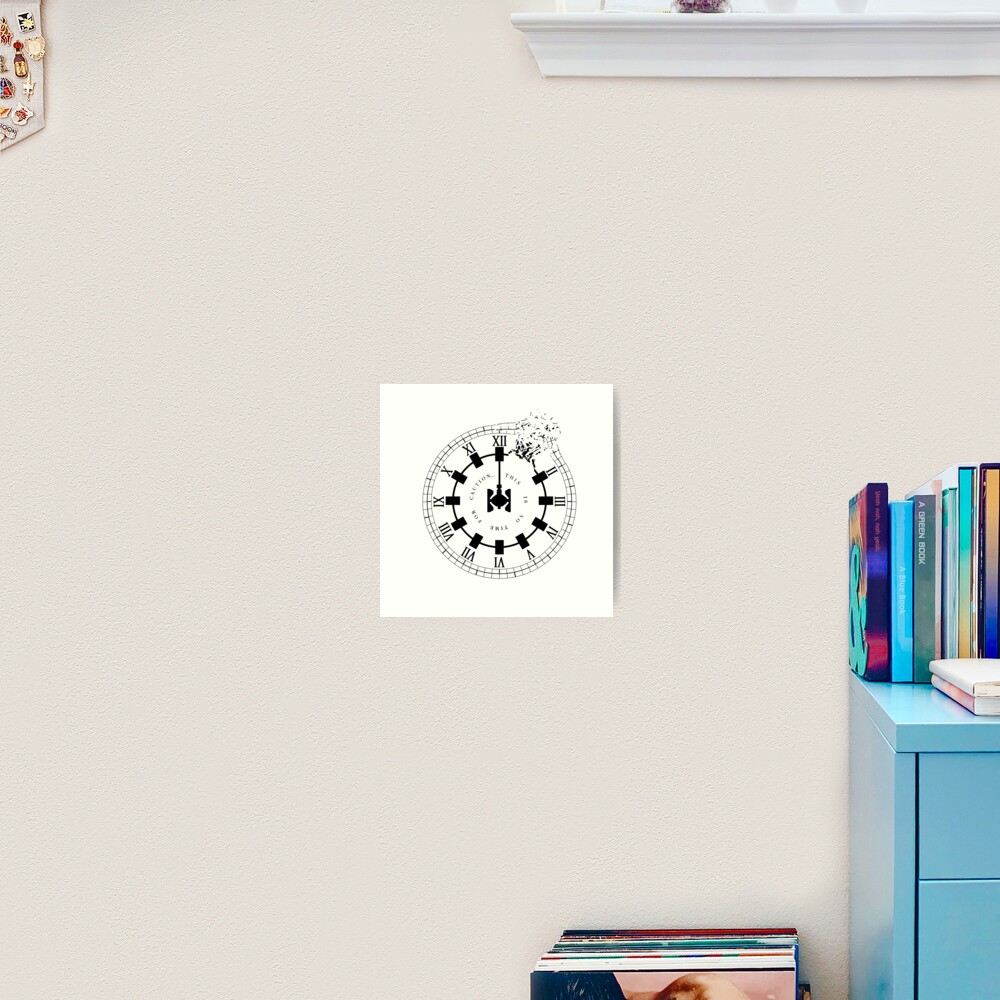 Interstellar - No Time For Caution (Endurance / Shattered Clock Design) Art Print
