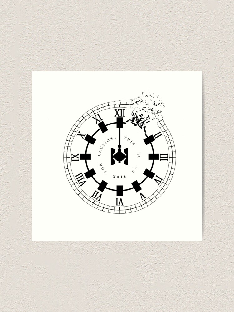 Alternate view of Interstellar - No Time For Caution (Endurance / Shattered Clock Design) Art Print