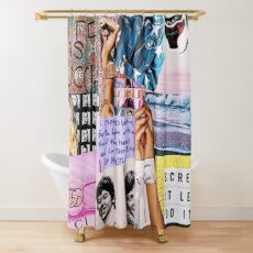 new pattern collage Shower Curtain