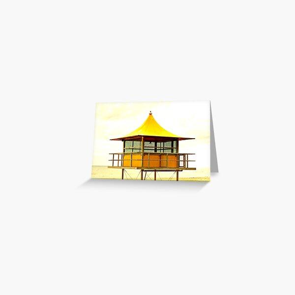 Life-Savers Hut on Glenelg Beach Greeting Card