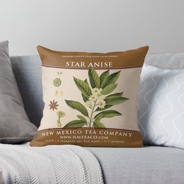 Star Anise - Organic Throw Pillow