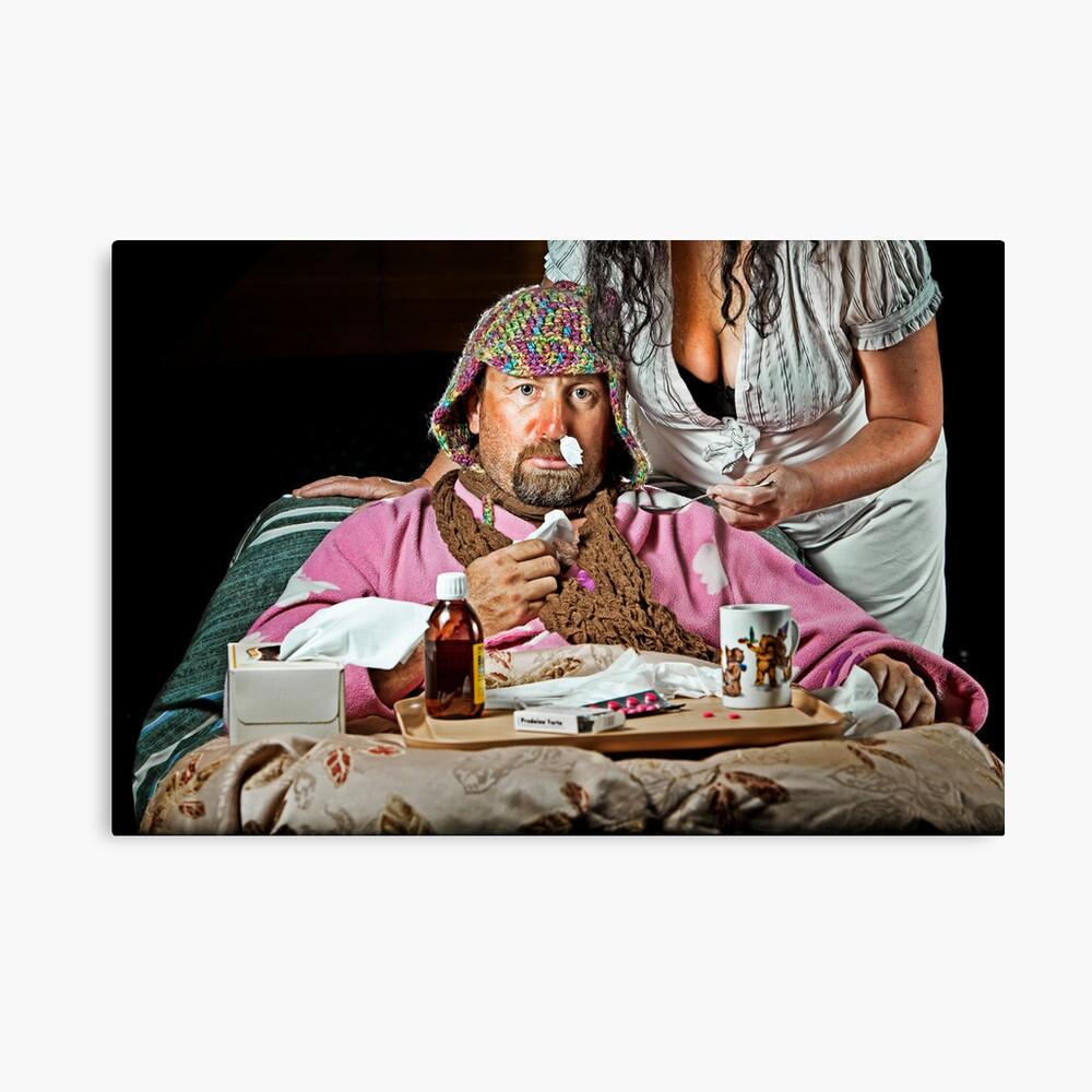 Man Flu! Canvas Print
