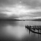 Winter on Lake Coeur d' Alene by Steve Biederman