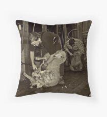 Shearing Time Throw Pillow