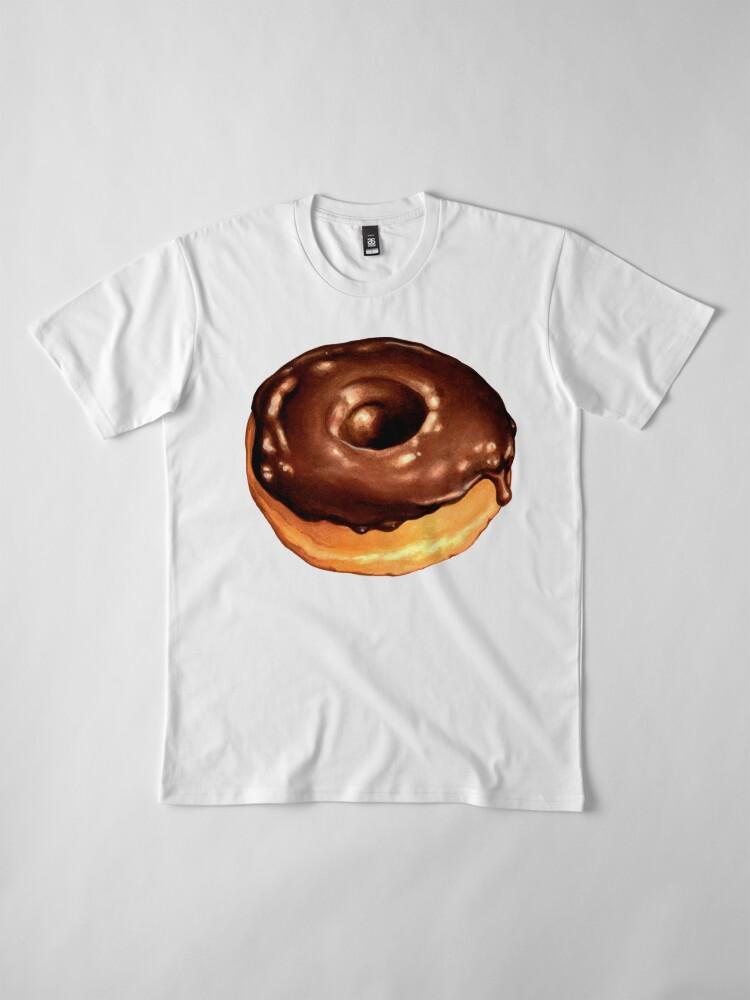 Alternate view of Chocolate Donut Pattern - Pink Premium T-Shirt