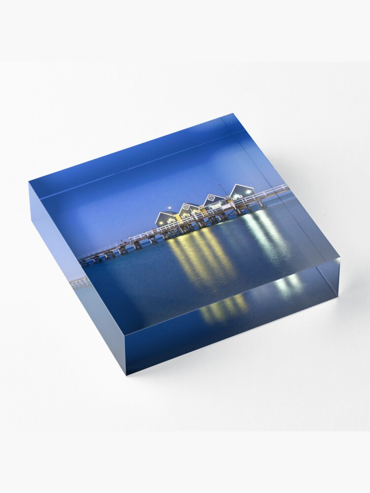 Alternate view of Busselton Jetty Acrylic Block
