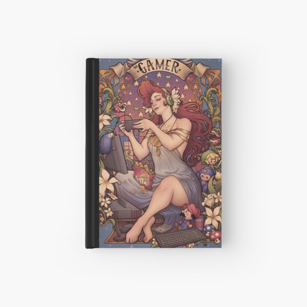 Gamer girl Nouveau Hardcover Journal