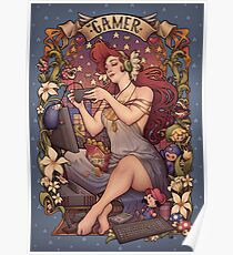 Gamer girl Nouveau Poster