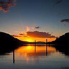 Golden bay sunset by Steve Biederman