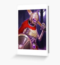 Skarkh The Undead Warrior Greeting Card