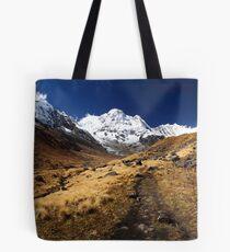 Annapurna South, Himalaya, Nepal. Tote Bag
