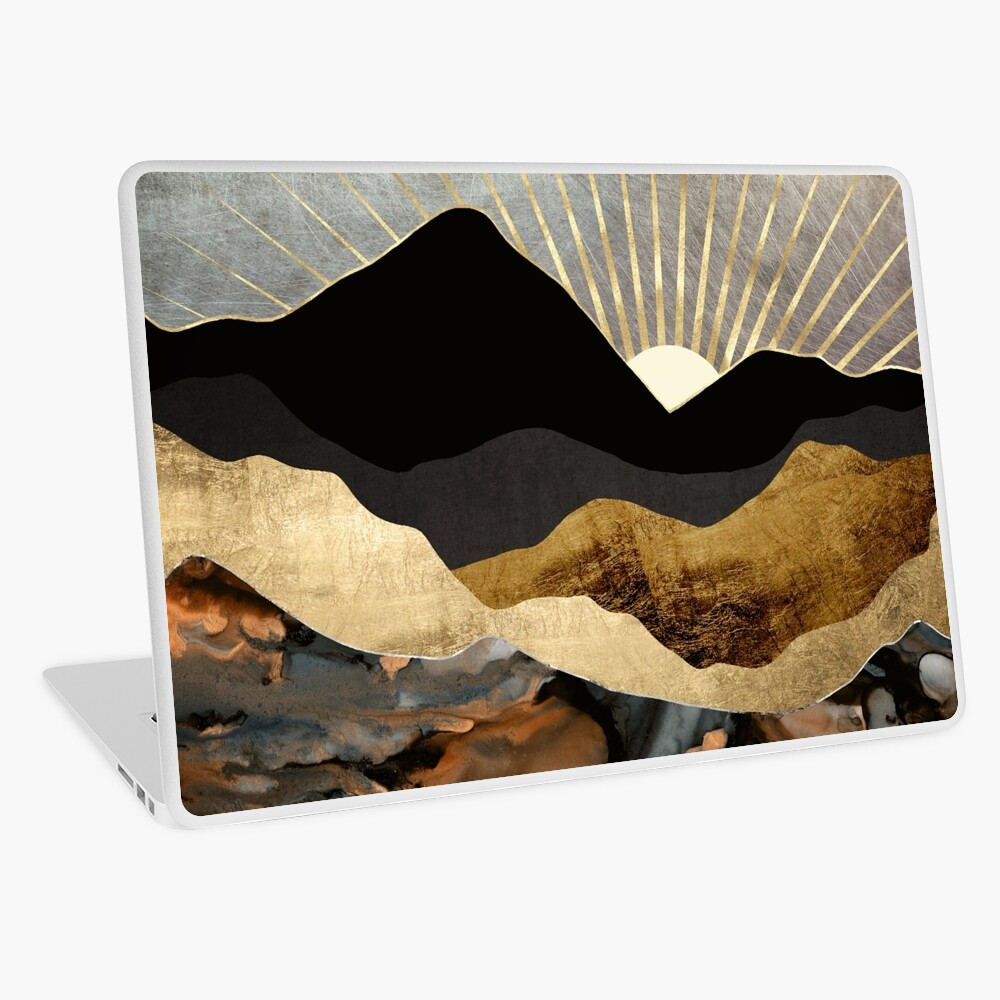 Copper and Gold Mountains Laptop Skin