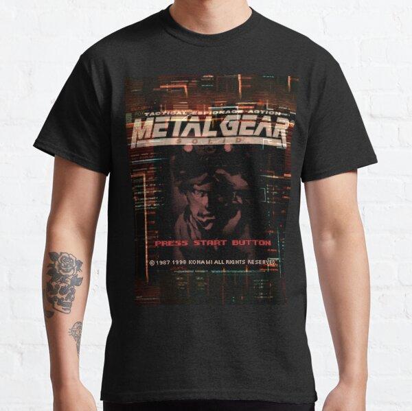 Presione el botón de inicio (Metal Gear Solid, PlayStation) Camiseta clásica