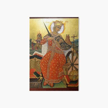 St. Catherine of Alexandria Icon Art Board Print