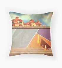pedestrians use other side Throw Pillow