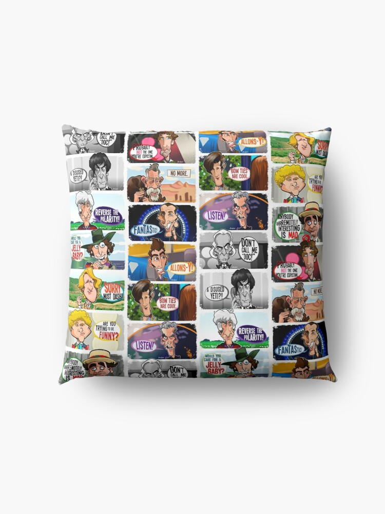 Alternate view of Who One to Twelve Floor Pillow