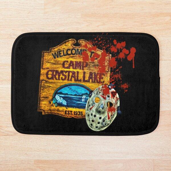 Friday The 13th, Camp Crystal Lake, Jason Voorhees Mask, Movie Fan  Art Bath Mat