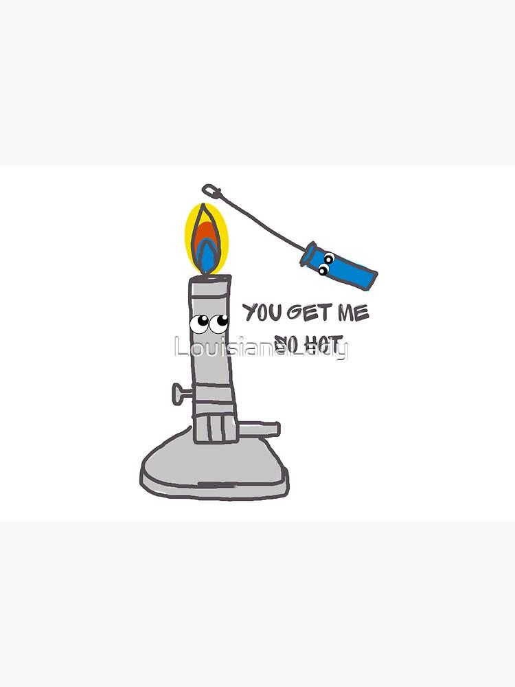Microbiology Lab Bunsen Burner Loop Flame by LouisianaLady