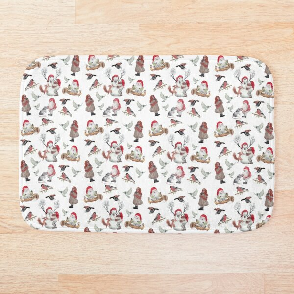 Gnome Christmas Pattern Bath Mat