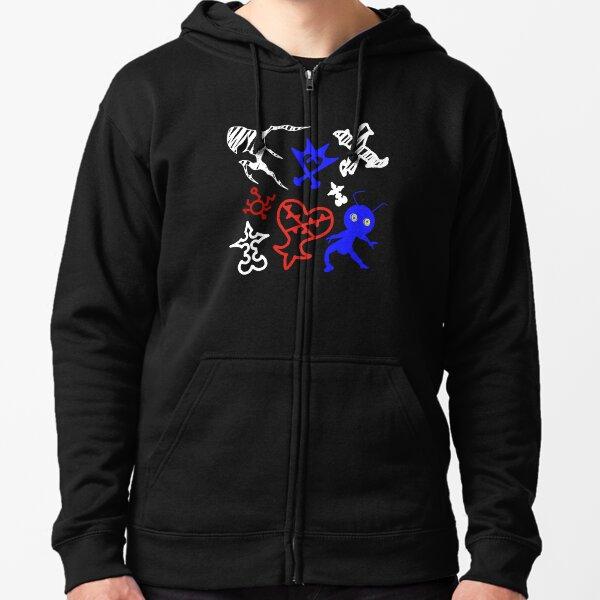 Kingdom Hearts style de dessin foncé Veste zippée à capuche
