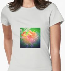 Flower Petals Ablaze Womens Fitted T-Shirt