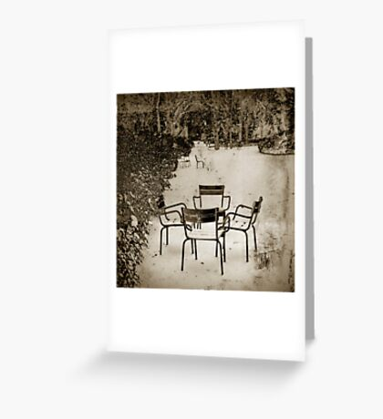 Chaises Greeting Card