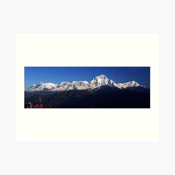 Dhauligiri Himal, Nepal. Art Print